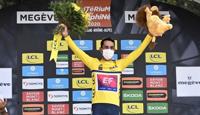 Foto: Ciclistul Daniel Martinez, câștigătorul cursei Criterium du Dauphine