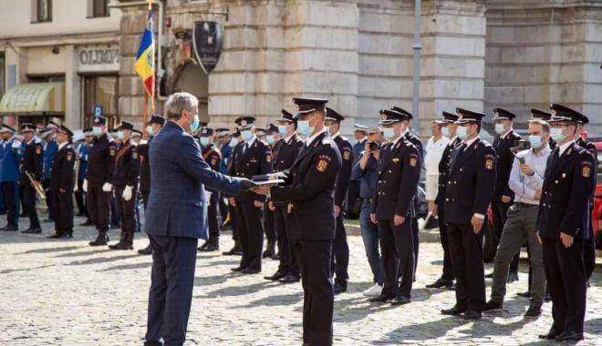 Foto: Pompier din Constanța, recompensat cu Emblema de Onoare a M.A.I.!