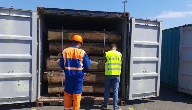 EXPORT DE LEMNE, ÎN ANCHETĂ! Șapte containere, oprite din drumul spre China! - 222-1623312781.jpg