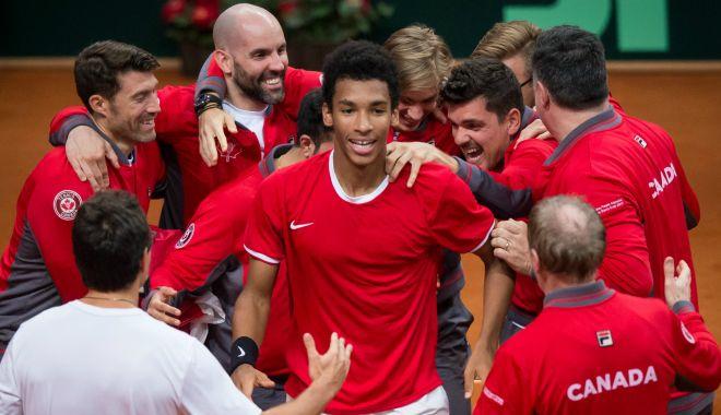 Foto: Canada s-a calificat în sferturile de finală ale Cupei Davis