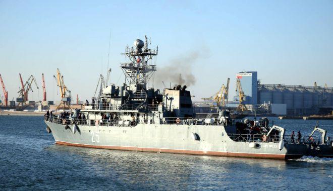 """Foto: 78 de militari, într-o MISIUNE ISTORICĂ! Dragorul maritim """"Lt. Lupu Dinescu"""" intră sub comandă NATO"""
