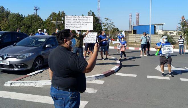 Sindicaliștii protestatari cer demisia conducerii companiei Constanța South Container Terminal