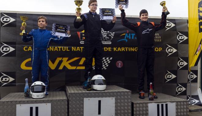 Foto: Frații Onoaie au încheiat pe podium Campionatul Național de karting