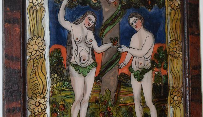 Adam şi Eva, pe simezele Muzeului de Artă Populară Constanţa - icoana-1622562364.jpg