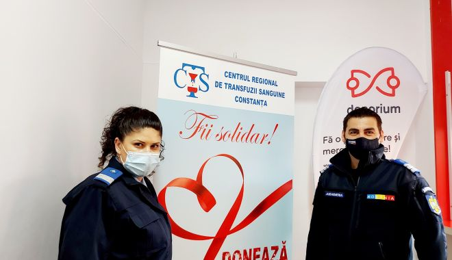 Jandarmii din Constanța - donatori de sânge, donatori de viață! - jandarmidonare1-1617726472.jpg