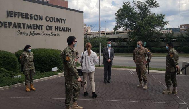Foto: Cadre medicale de la Spitalul Militar Constanța, în luptă cu COVID 19 în America