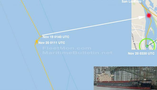O navă a eșuat în Argentina - onavaaesuatinargentina-1606041085.jpg