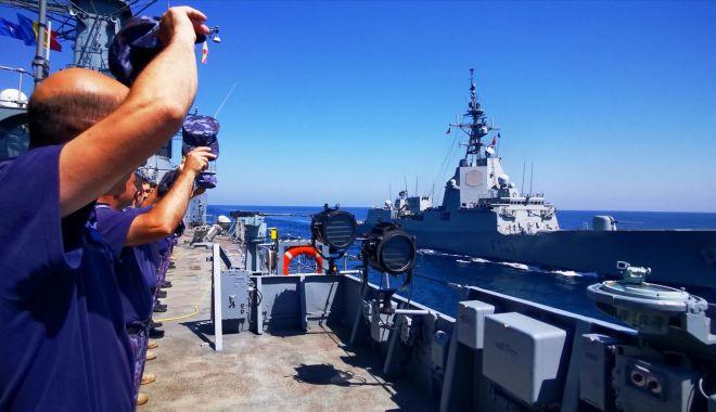 Foto: O nouă misiune sub pavilion NATO, îndeplinită de Forțele Navale Române