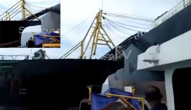 Un tanc petrolier a fost avariat de o navă de dragaj - untancpetrolierafostavariat-1602418180.jpg