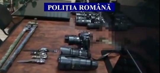Foto: VIDEO. Depozit de aparatură furată, într-o locuință din județul Constanța