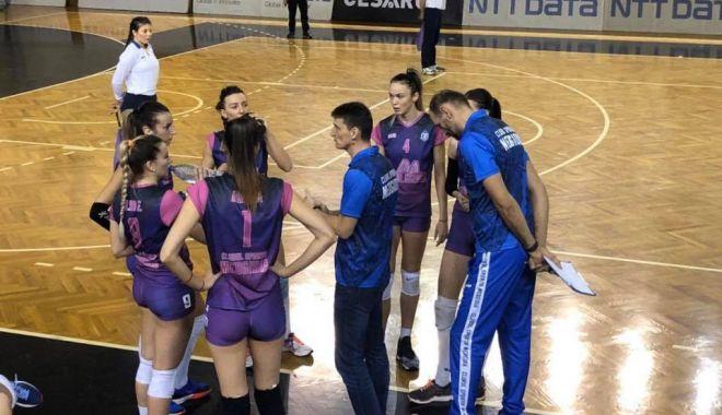 Foto: Voleibalistele de la CS Medgidia, învinse la limită de CSU Cluj