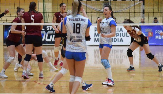Foto: Voleibalistele de la CS Medgidia, victorie cu Rapid