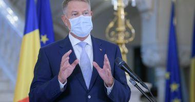 Klaus Iohannis: Pandemia este de departe a se fi încheiat. Să menţinem o atitudine prudentă