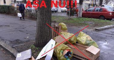 Constănţenii care locuiesc la casă, amendaţi dacă scot gunoiul pe stradă în alte zile decât cele de colectare