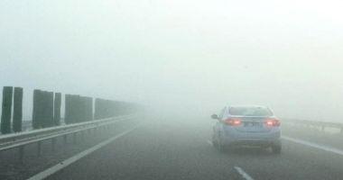 CEAȚĂ PE AUTOSTRADĂ! Poliția avertizează șoferii să conducă prudent