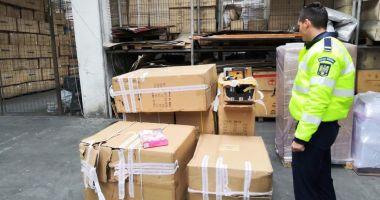 Mărfuri contrafăcute, indisponibilizate de oamenii legii din Constanța