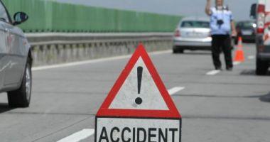 Accident rutier grav pe Autostrada Soarelui. O persoană a fost rănită