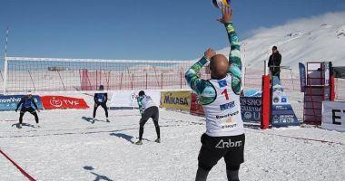 Constanța a triumfat la prima ediție a Campionatului Național de volei pe zăpadă