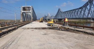 GALERIE FOTO. Imagini inedite cu lucrările de reabilitare a Podului Cernavodă