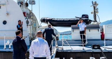 Vizită importantă la bordul navei Gărzii de Coastă, aflată în misiune în Grecia
