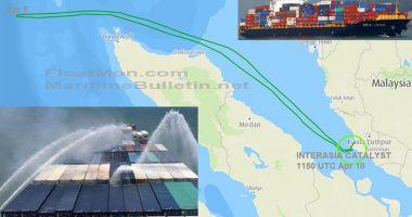 Incendiu pe un portcontainer în Marea Andaman