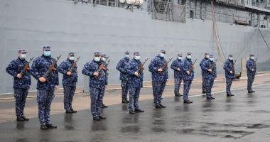 Marinarii militari, la ceremoniile de sărbătorire a Unirii Principatelor Române