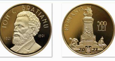 A fost lansată o monedă din aur dedicată lui Ion C. Brătianu