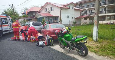 VIDEO / Motociclist, resuscitat în Vama Veche. I s-a blocat pedala de accelerație!