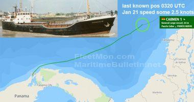 O navă a dispărut în apropierea Insulelor Caraibe