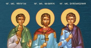 Biserica Ortodoxă îi cinstește pe Sf. Mc. Trofim, Savatie şi Dorimedont