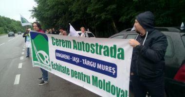Protest motorizat pentru autostrada A8. Ce solicită protestatarii